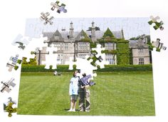 Puzzle would have their wedding photo. Have the guests sign the back of the puzzle piece. Cute idea