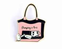 Pumping 9 to 5 Enamel Pin Pumping Bag, You Are Incredible, 9 To 5, Hard Enamel Pin, Black Rubber, Breastfeeding, Bring It On, The Incredibles, Tote Bag