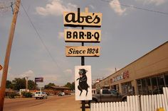Abe's BBQ sign in Clarksdale, MS by Southern Foodways Alliance, via Flickr