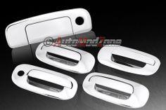 98-03 Dodge Durango 4DR Chrome Door Handle+ Tailgate Cover Combo w/o PSG Keyhole