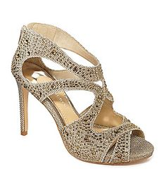 Really tall, not as comfortable, looks amazing with dress. Gianni Bini Flame Cutout Sandals #Dillards