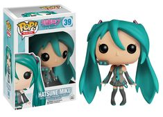 From the Vocaloid program comes the main mascot in awesome Pop! This Vocaloid Hatsune Miku Pop! Vinyl Figure stands 3 tall and makes a great gift for children and adult col Funk Pop, Funko Figures, Vinyl Figures, Pop Rocks, Best Action Figures, Funko Pop Anime, Funko Pop Dolls, Funko Toys, Pop Figurine