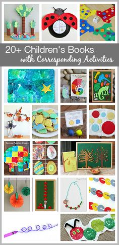 We are always inspired to do fun crafts and learning activities whenever we read some of our favorite children's books! Here is a list of activities we've come up with inspired by popular children's books. Preschool Literacy, Preschool Books, Kindergarten Art Activities, Learning Activities For Kids, Reading Activities, Guided Reading, Book Crafts, Fun Crafts, Crafts For Kids