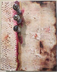 Title: Tubular Original Encaustic Artwork by kparsley on Etsy