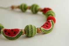 Summer knitted beads
