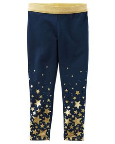 Kid Girl Metallic Star Legging from Carters.com. Shop clothing & accessories from a trusted name in kids, toddlers, and baby clothes.