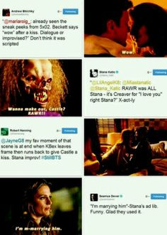 Stana officially wants to create more love moments for fangirls to freak out over. Or maybe she just loves Nathan