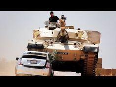 Tank Smashes Prius! Toyota Prius Battles AMC Gremlin & Suffers Crushing ...