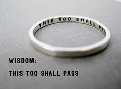 Quote Idea  Personalized Ring Wisdom by boutonrougedesigns on Etsy, $30.00