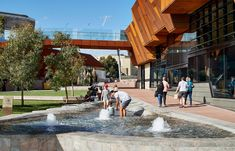 Yagan Square by ASPECT Studios « Landscape Architecture Platform Architecture Courtyard, Landscape Architecture, Cultural Experience, Elements Of Art, Contemporary Landscape, Architect Design, Design Process, Ecology, Water Features