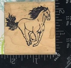 Rubber Stamp HORSE Wild Mustang Western Funny Business Incorporated 1982 D16 #Unbranded