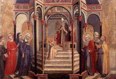 Sano di Pietro - Presentazione della Vergine al Tempio - 1448-1452 - tempera su tavola - Pinacoteca Vaticana, Città del Vaticano