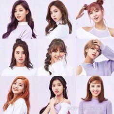 TWICE - Tzuyu, Mina, Momo, Chaeyoung, Jihyo, Jeongyeon, Dahyun, Sana and Nayeon.