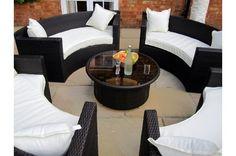 Lauren Circular Rattan Garden Furniture Sofa Set