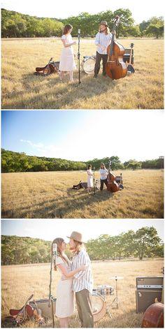 Such a cute engagement shoot of an Austin musician couple. :)