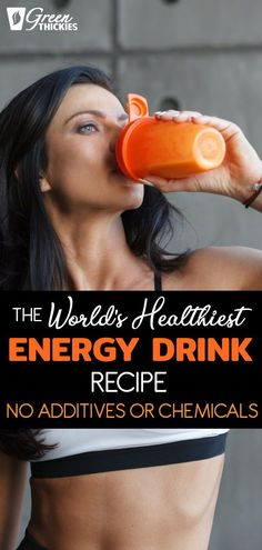 Why buy a processed syrup laden energy drink when you can make the world's healthiest energy drink in just a couple of minutes?
