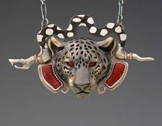 Black Jaguar w/ Serpent, Shakudo and Red Coral | Brooke Stone Jewelry
