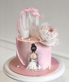 A birthday party is a special occasion to everybody celebrate every year.A special birthday cake is a must. What birthday cake ideas you should try, then? Ballet Birthday Cakes, Ballet Cakes, Pretty Birthday Cakes, Special Birthday Cakes, Birthday Cake With Flowers, Ballerina Cakes, Ballerina Birthday, Flower Birthday, Cake Boss