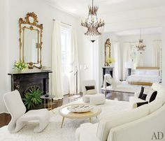 New Orleans home by Lee Ledbetter. white white white.