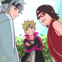 Mitsuki, Boruto and Sarada