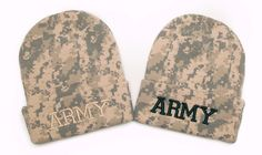 Camouflage Beanie with word ARMY 3D Embroidered Hat
