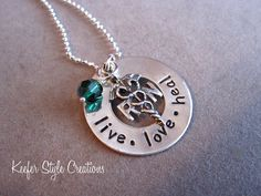 Hand Stamped Nurses necklace