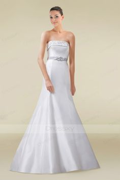 Elegant A-line Wedding Gown with Lavish Watteau Train