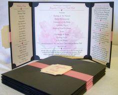 Gatefold Wedding Programs  The Katherine  by designedbyelisabeth, $2.55