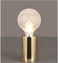Frosted Crystal Bulb Table Lamp