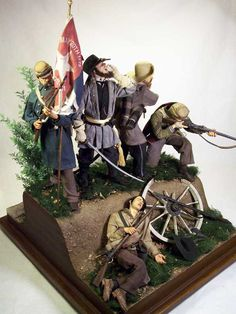 """The river"" – Confederate last stand 1/6 Scale Model"