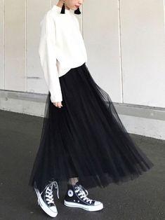 54 Ideas For Style Elegant Casual Full Skirts Fall Fashion Outfits, Look Fashion, Womens Fashion, Fashion Black, 40s Fashion, Fashion Stores, Long Skirt Fashion, Modest Fashion, Apostolic Fashion