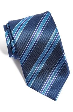 David+Donahue+Stripe+Silk+Tie+available+at+#Nordstrom