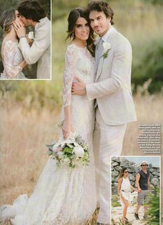 Nikki Reed and Ian Somerhalder Wedding pictures from Hello Magazine
