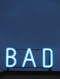 """BAD"" Neon Building-top Signage"