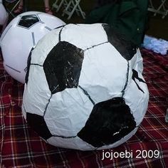 Soccer Ball Pinata the kids can kick - idea for a Nate bday party