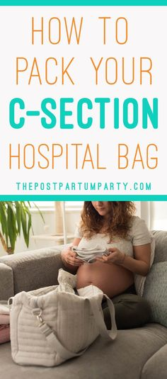 Having a C-section? Here's how to pack your C-section hospital bag so you are ready! We've included items for dad and baby, as well as what to leave at home Csection Hospital Bag, Birth Hospital Bag, Packing Hospital Bag, Hospital Bag For Mom To Be, Hospital Bag Essentials, Baby Essentials, Hospital Bag C Section, Hospital Bag Checklist, Childbirth Education