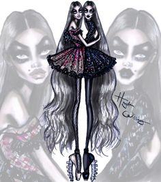 'Ghoulish Twins' by Hayden Williams #HauteHalloween| Be Inspirational ❥|Mz. Manerz: Being well dressed is a beautiful form of confidence, happiness & politeness