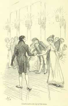 Jane Austen Mansfield Park - conducted to the top of the room Jane Austen Mansfield Park, Jane Austen Novels, Drawing Sketches, Drawings, Draw On Photos, Pride And Prejudice, Romance, Book Characters, Vintage Photographs