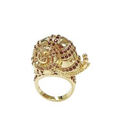 Another great find on #zulily! Crystal & Gold Snail Ring by Amabel Designs #zulilyfinds
