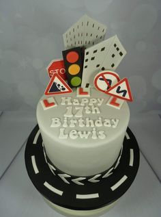 Driving themed 17th Birthday Cake - #17Th #birthday #Cake #driving #themed #17thbirthday Driving themed 17th Birthday Cake 17 Birthday Cake, 17th Birthday Gifts, Birthday Party For Teens, Birthday Cake Decorating, Birthday Ideas, Teen Boy Cakes, Cakes For Boys, Cake Kids, Frozen Theme Cake