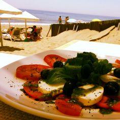 Healthy Capresse salad; Roma Tomatoes, Mozarella, olives, optional spinach