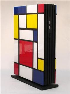 A mini-ITX case design inspired by the abstract art of Dutch painter Piet Mondrian