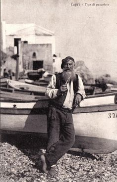 Fisherman in Capri, Italy - circa 1900