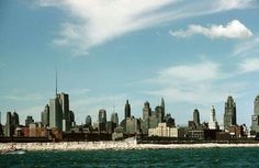 The skyline south west from Navy Pier, Chicago Chicago Skyline, New York Skyline, Chicago Pictures, Park, City, Travel, Viajes, Parks, Cities