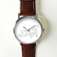 Oxytocin Love Happy Hormone Watch  Molecules Watches for Men Women Leather  Ladies Vintage  Jewelry Accessories Gifts Spring Fashion Unique