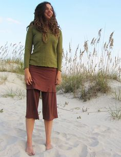 Gaia Conceptions - Simplicity Mini Skirted Gauchos, $85.00 (http://www.gaiaconceptions.com/simplicity-mini-skirted-gauchos/)