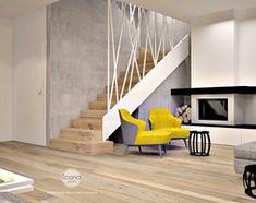 Segment w warszawie - Średnie wąskie schody zabiegowe wachlarzowe drewniane, styl nowoczesny - zdjęcie od Icona Studio