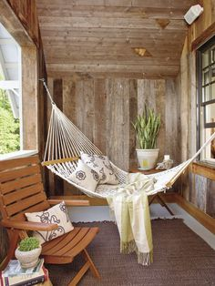 That same porch with hammock.