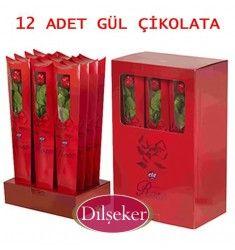 Özel Gün Hediyesi Gül Çikolata 12 Adet