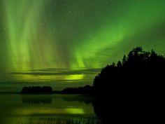 La aurora boreal desde Laponia, en el norte de Finlandia.